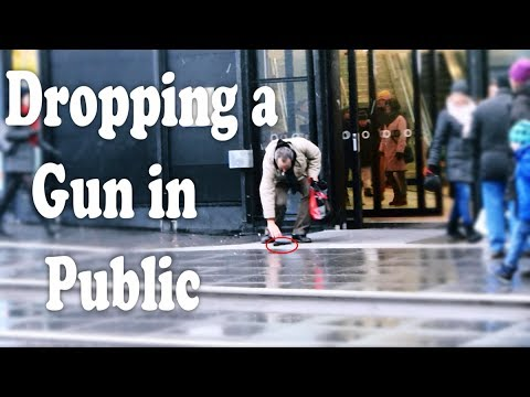 Dropping A Gun In Public Prank (Social Experiment)