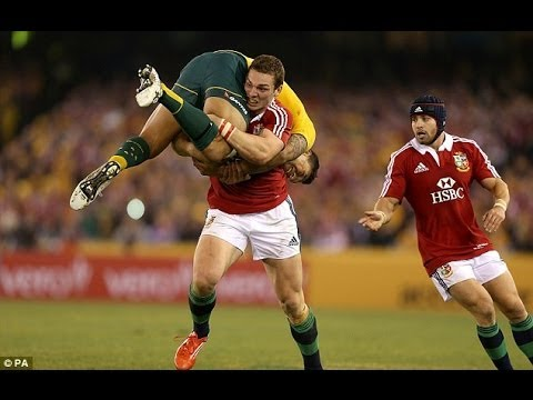 George North's Fireman's lift on Israel Folau | Australia vs British & Irish Lions