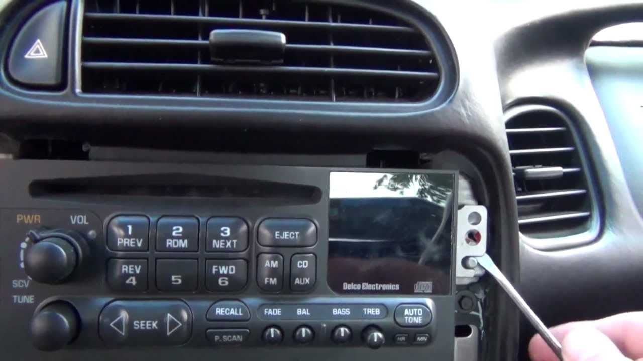 How To Remove A Stock Radio Stereo From A C5 Chevrolet