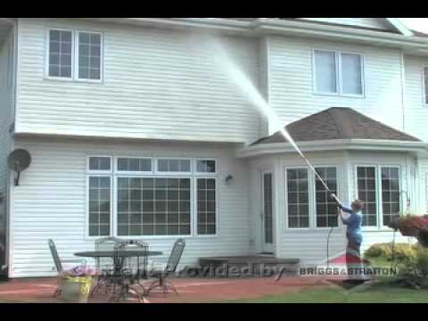 How To Clean Your Second Story Siding With A Briggs
