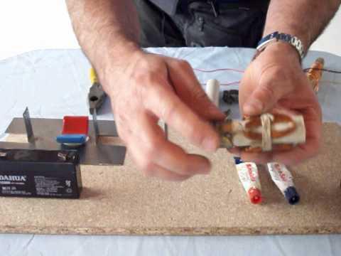 como hacer un motor electrico  casero