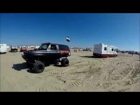 Monster K5 Blazer pulling out Stuck RV at Pismo Huckfest