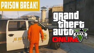GTA 5 Online: Bank Heist Preparation EPIC Prison Break
