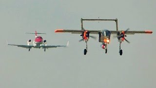 [FullHD] **EXTREMELY RARE** 2 landings at the same time at Geneva/GVA/LSGG