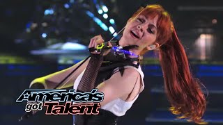 """Lindsey Stirling: Former AGT Act Performs """"Shatter Me"""" With Lzzy Hale - America's Got Talent 2014"""