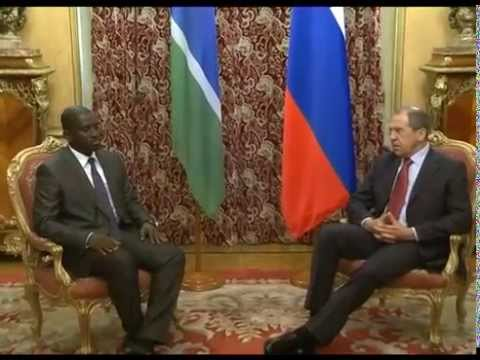 С.Лавров и М.Сабалли / Sergey Lavrov and Momodou Sabally