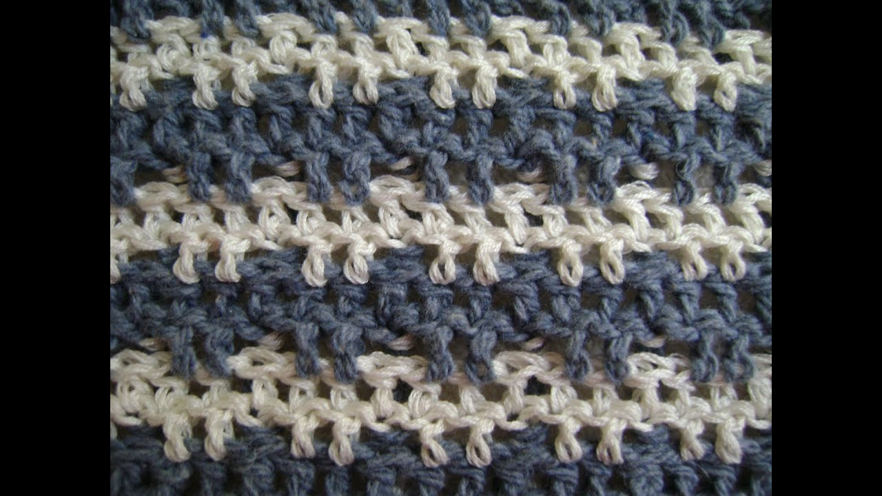 Crochet Stitches Triple : Crochet Triple or Treble Crochet + Front and Back Post Stitches ...