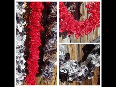 Knots-n-Knits: Crocheted Ruffled Scarves - Sashay vs