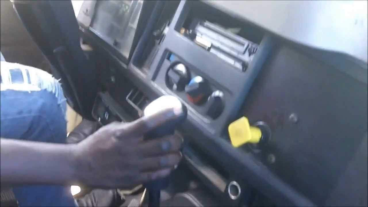 Shifting Gears In An 4700 International With 6 Speed Fuller Transmission