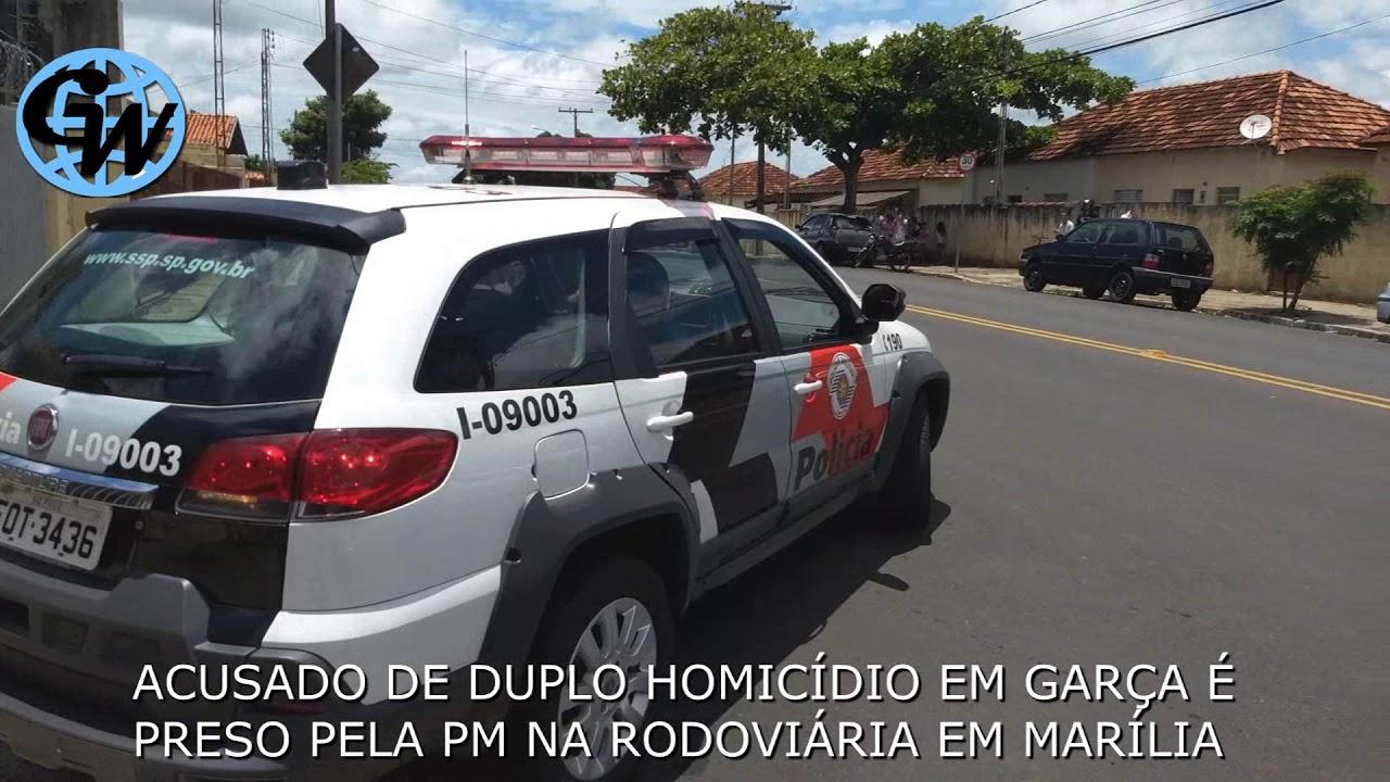 Acusado de duplo homicídio em Garça é preso pela PM em Marília