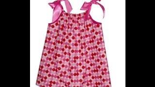 Como hacer un vestido con una funda de almohada para niñas y mamas