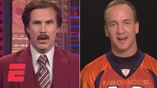 Ron Burgundy interviews Peyton Manning on SportsCenter | ESPN Archives