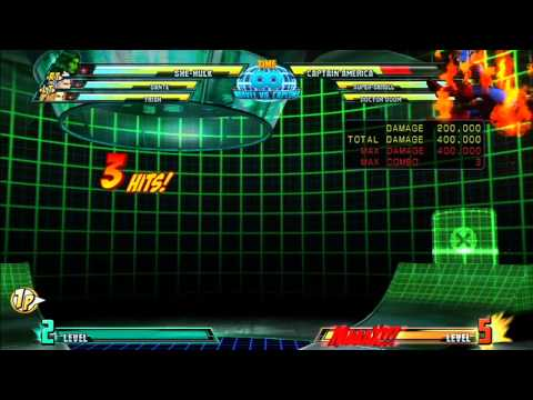 MvC3: She-Hulk - Combo 02 - Flight Plan