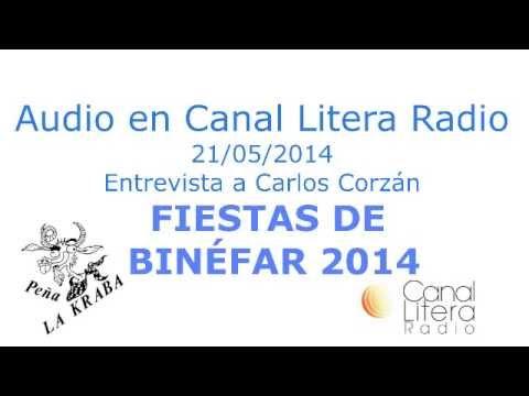 Entrevista a Carlos Corzán donde habla de las Fiestas de Binéfar 2014