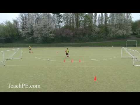 Soccer Drills - Shooting 12 - Dribble and Shoot