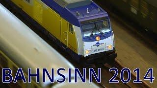 Modelleisenbahn Bahnsinn 2014 Modulanlage in Fulda