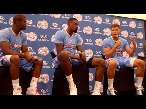Chris Paul, DeAndre Jordan and Blake Griffin - Media Day 2013 Pt. 3