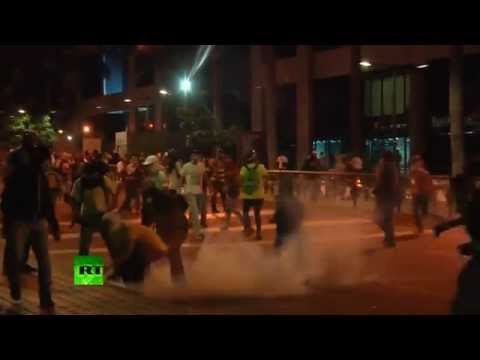 Tears & Teargas: Protesters clash with police in Venezuela