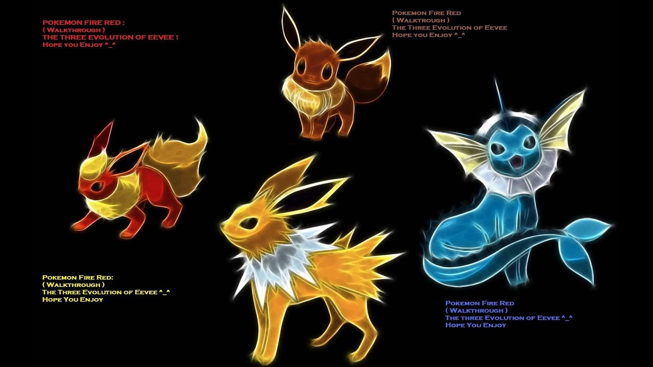 Pokemon Fire Red : Eevee Evolution39;s  YouTube