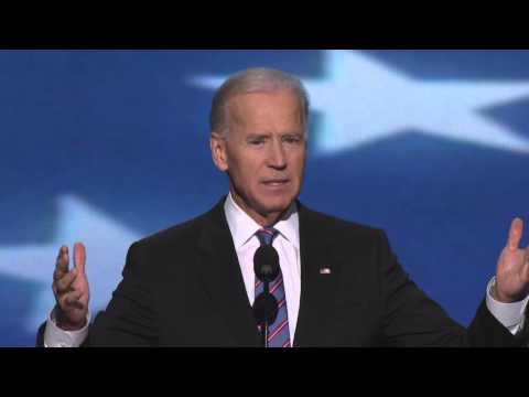 Vice President Joe Biden at the 2012 Democratic National Convention