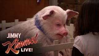 Watch Jimmy Kimmel Dress Up As A Pig To Trick Little Kids, And It's So Hilarious