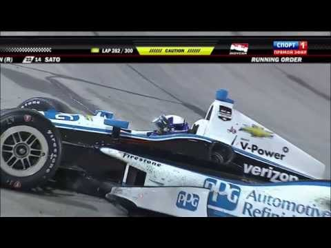 Montoya Crash @ 2014 Indy Car Iowa