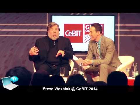 Steve Wozniak @ CeBIT 2014 - NSA, Snowden, Apple, Tim Cook (special guest Superman)