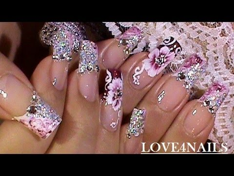 Marble Nail Art Design How To Paint A One Stroke Flower Tutorial,