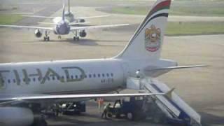 Etihad Airways Landing And Take Off At Chennai Airport