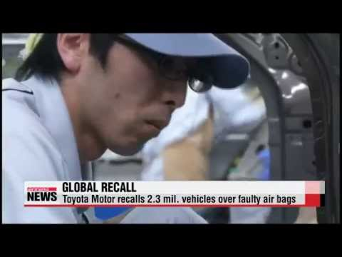 Toyota recalls 2.3 mil. vehicles over faulty air bags