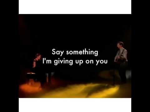 Say Something - Alex and Sierra (Lyrics)