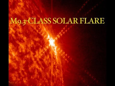 M9.3-class solar flare on March 12, 2014