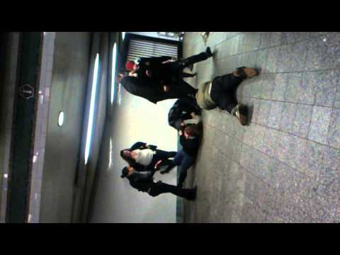 Fight in the subway