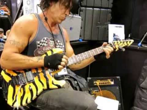 NAMM 2014 George Lynch play at Floyd Rose booth with Jeff Berlin Sat 25th