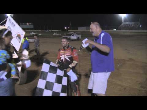 Trail-Way Speedway 358 Sprint Car Victory Lane 7-18-14