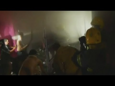 Brazil Nightclub Fire: Amateur footage shows firefighters battling the blaze
