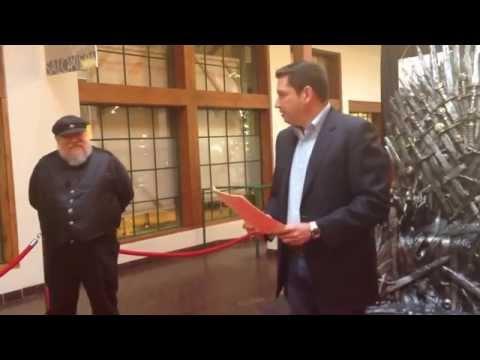 George RR Martin Day Proclamation in Santa Fe