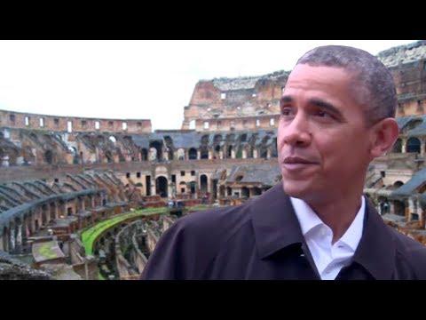 President Obama Visits The Colosseum