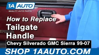 How To Install Replace Tailgate Handle Chevy Silverado GMC