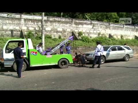 mitv - Seized Cars: About 20 Vehicles Towed Daily In Yangon