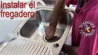 Como instalar un fregadero y montar el grifo