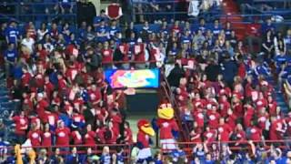 Jayhawk Buddies Flash Mob during University of Kansas Men's Basketball game