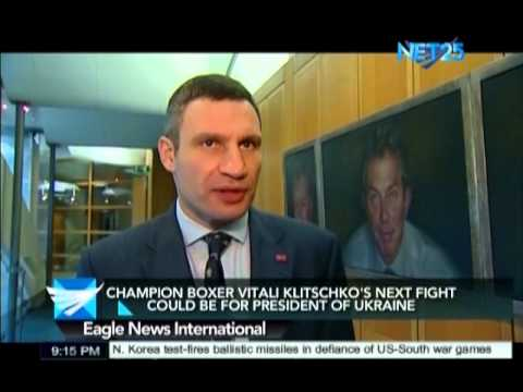 Champion boxer Vitaly Klitschko's next fight might be for presidency
