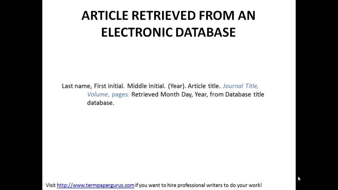 apa reference citation format