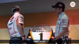 Pedrosa & Marquez İkilisinin Repsol Honda Şampiyon Motosikletleri ile İmtihanı...
