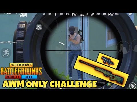 PUBG MOBILE LITE *AWM* ONLY CHALLENGE || FUNNY MOMENTS