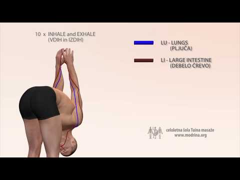 Exercise for meridians of LUNGS and LARGE INTESTINE - Vaja za odpiranje meridijana LU in LI