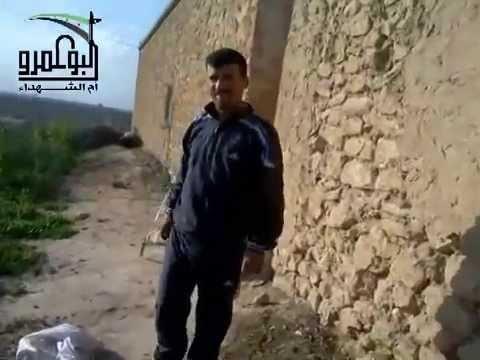 رجل سوري تسقط عليه قذيفة أثناء تصويره لنفسه