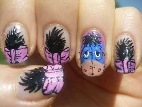 Eeyore Nail Art Tutorial