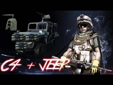 How to be an annoying douchebag in Battlefield 3 | JEEP + C4 | The Ultimate Tank Killer